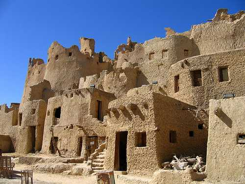 Siwa Oasis, Egypt historical mud brick structure