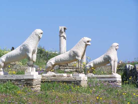 Lions of Delos, Greece