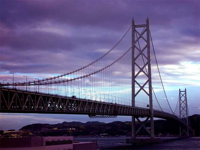 Akashi-Kaikyo Bridge, Japan