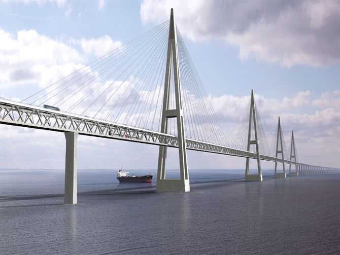 Fehmarn Belt Bridge, Denmark and Germany