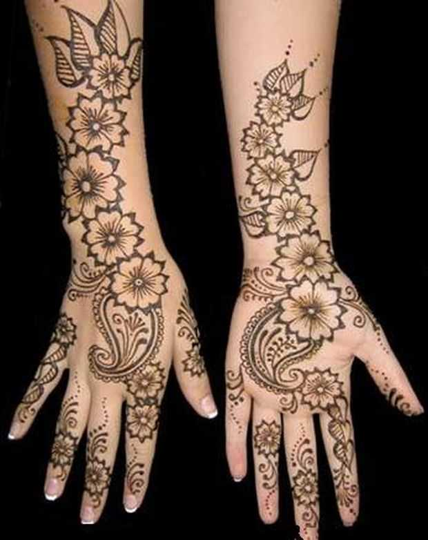Arabic Mehndi Design For Men: Stylish Arabic Hand Mehndi Designs For Eid