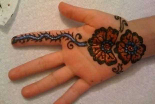 Mehndi Designs For Young Girls - Hand Henna Designs For Kids