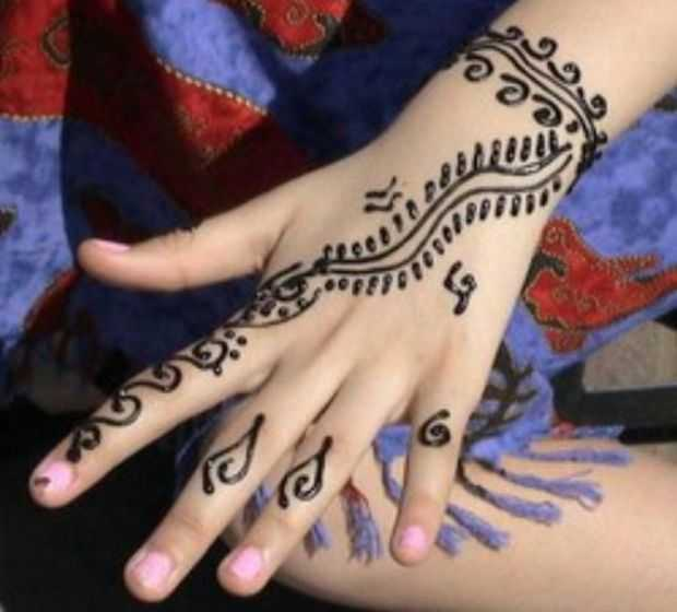 Mehndi Designs For Young Girls Hand Henna Designs For Kids