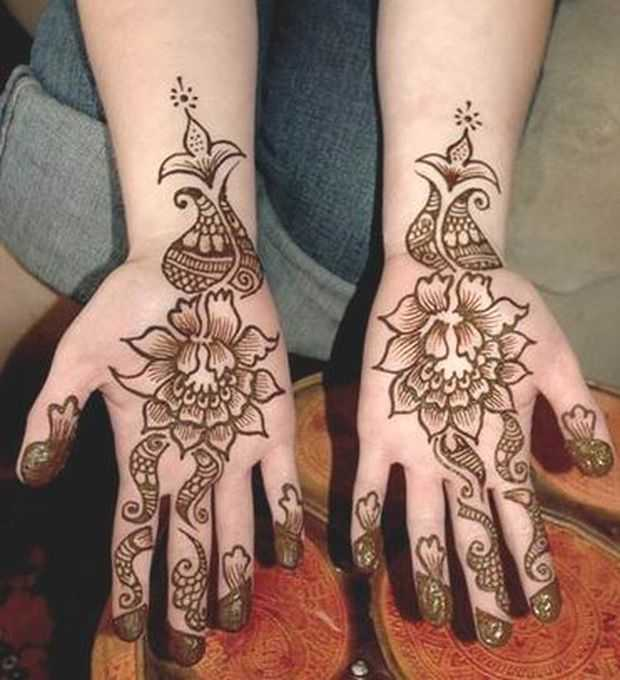 Mehndi Designs For Young Girls , Hand Henna Designs For Kids