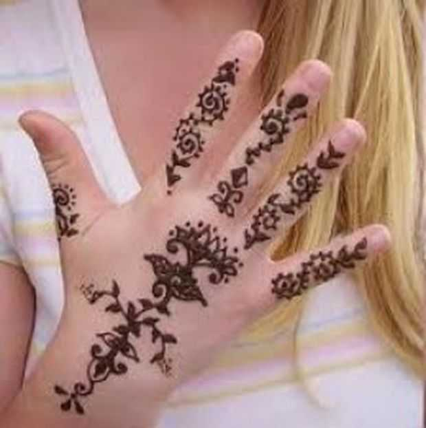Mehndi designs for young girls hand henna designs for for Henna tattoo for kids