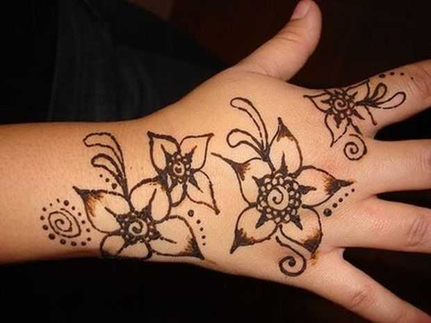 Mehndi Bracelet Design For Kids : Mehndi designs for young girls hand henna
