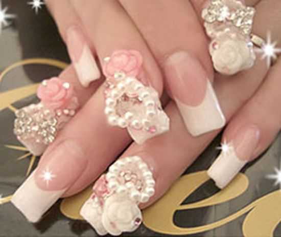 Wedding Nails, Bridal Nail Art Ideas
