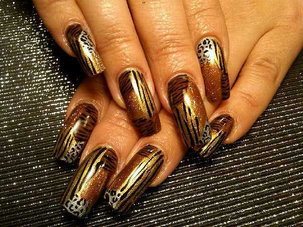 Tiger Nail Art Designs - Animal Print Nail Art Designs & Trends