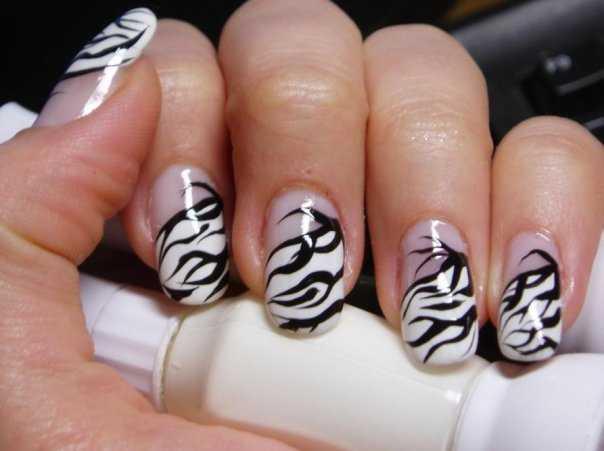 Nail Art Zebra Designs