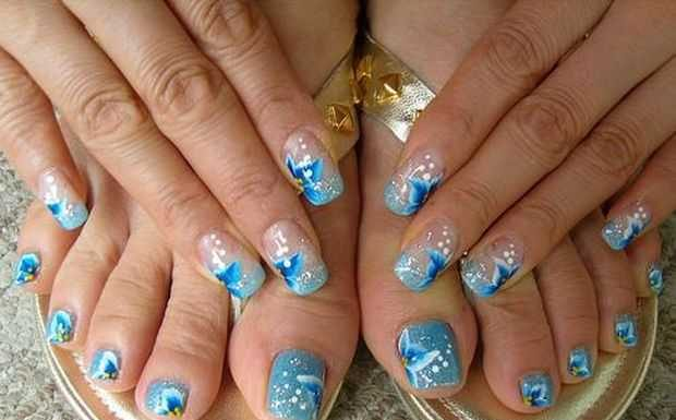 17 innovative floral nail art designs beautiful floral nail vintage floral nail art video tutorial prinsesfo Image collections