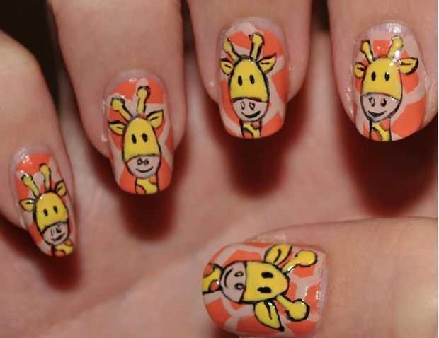 Stylish Giraffe Nail Designs Giraffe Nail Art Nail Art