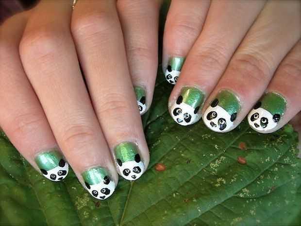 Nail art design animals animals nail art designs ideas fabulous view images stylish panda nails animal nail art designs featured prinsesfo Choice Image