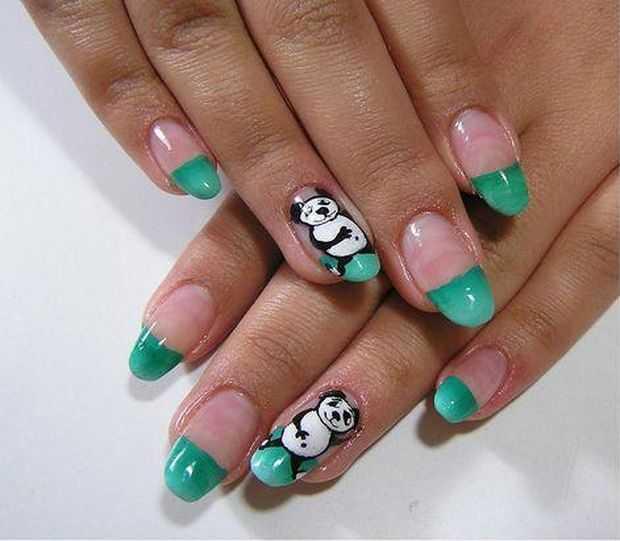 Stylish Panda Nails Animal Nail Art Designs Featured