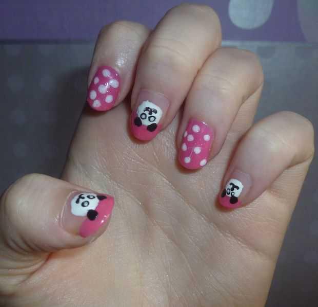 Panda Nail Art: Animal Nail Art Designs