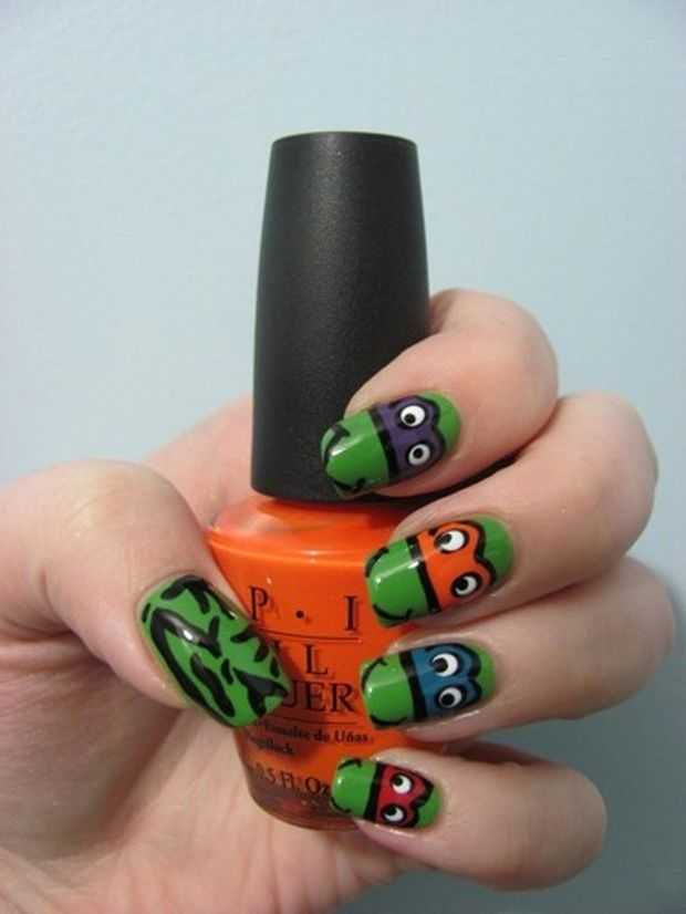12 Innovative Turtle Nail Designs - Animal Print Nail Art Fashion ...