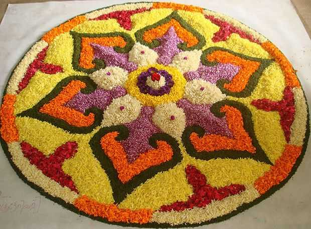 Innovative Floral Rangoli Designs Patterns Home
