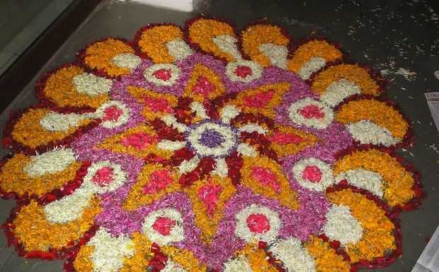 Check Out These Innovative Floral Rangoli Designs To Decorate Your Home And  Welcome The Coming Festivals.