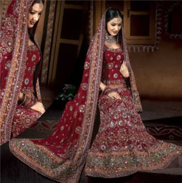 Indian Wedding Dressing Styles - Indian Bridal Lenghas, Bridal ...