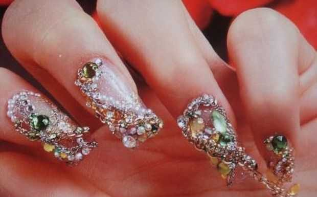 Nail-Art designs with -Rhinestones-13