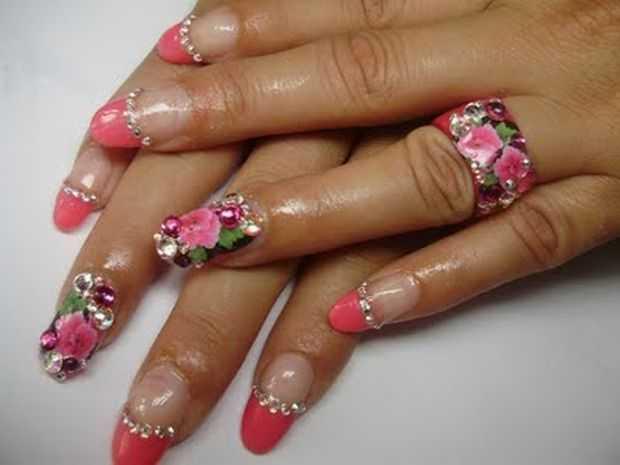 Nail Art Designs With Trendy Rhinestones - Nail Art - Nail Art