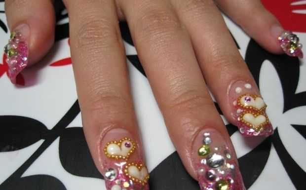 Nail-Art designs with -Rhinestones-3