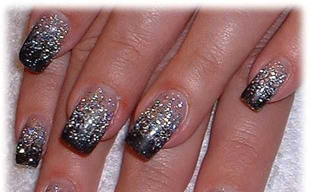 Nail-Art designs with -Rhinestones-8