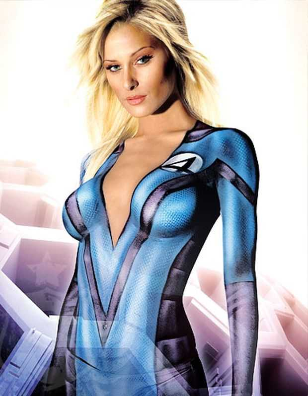 Painted Celebrities: Stars Wearing Nothing but Body Paint ...