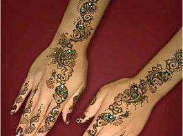 Glitter Mehndi, Glitter Henna Designs
