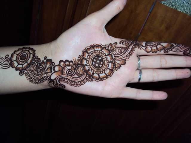 Mehndi Patterns Arabic : Arabic hand mehndi designs for beginners henna