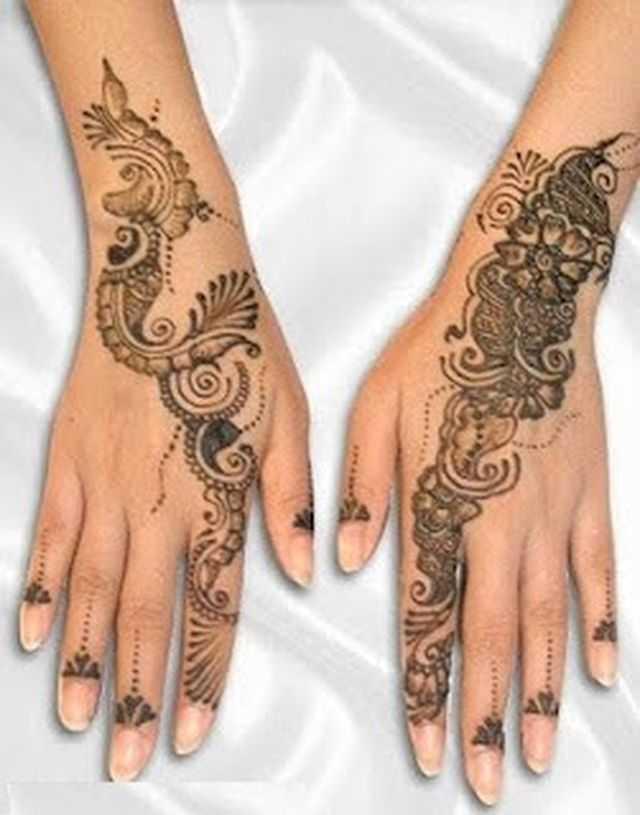 Mehndi Designs Please : Arabic hand mehndi designs for beginners