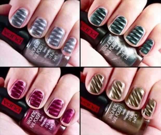 Magnetic nail art magnetic nail design trends 2012 magnetic nails magnetic nail polish prinsesfo Choice Image