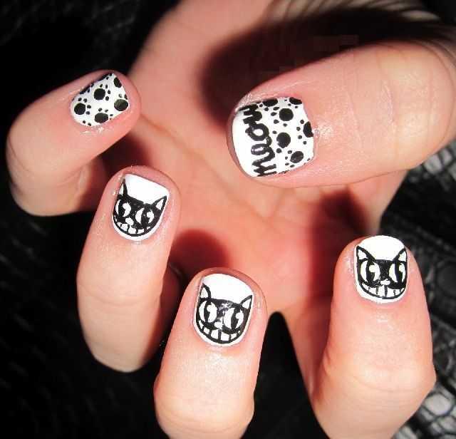 Meow Nail Art Cat Meow Nail Art Meow Nails Nail Art