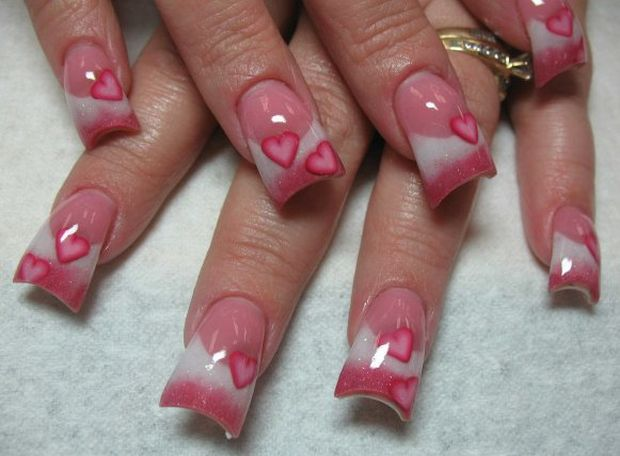 Red Valentine Nail Art