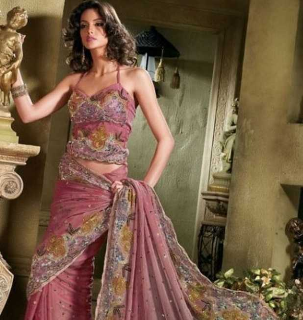 Traditional yet stylish saree blouse designs for 2012
