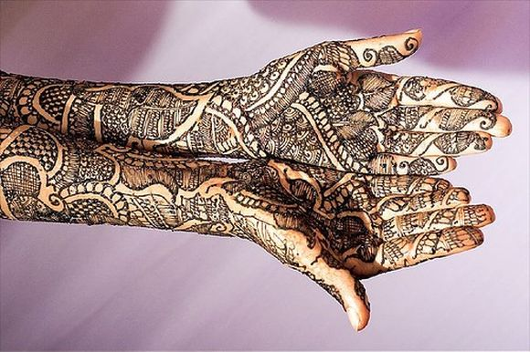 Mehndi For Thin Hands : Arabic bridal mehndi designs for full hands henna
