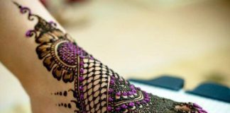 Latest Arabic Mehndi Designs For Feet With Stones