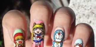 Cartoon Nail Art Designs, Comic Strip nail art ideas