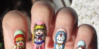 Cartoon Nail Art Designs, Comic Strip nail art ideas