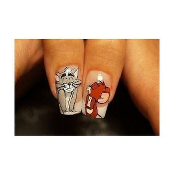 Comic Strip Nail Art Designs - Cartoon Nail Art , Comic Strip Nails