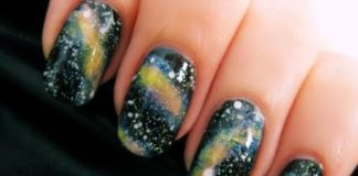 Galaxy nail art design ideas