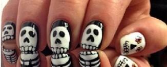 Halloween Skeleton Nail Art Designs