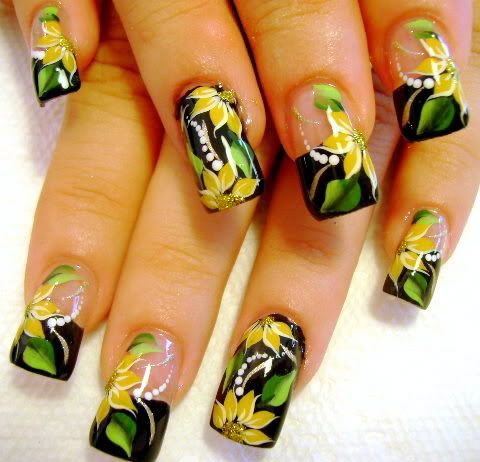 Flower nail Art video tutorial