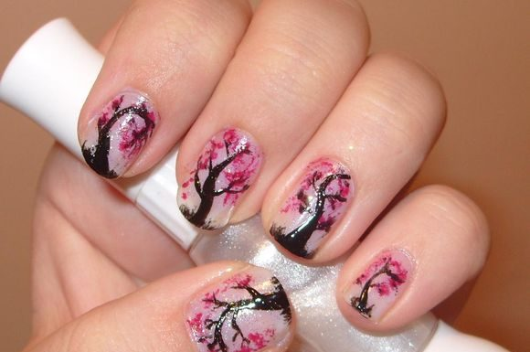 Tree nail art designs latest tree inspired nail art designs imagination can drive you to create sunset or dawn based palm tree nail art designs check out these palm tree based tree nail art design ideas and sport prinsesfo Image collections