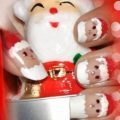 Santa Claus Nail Art Design Ideas For Christmas - Christmas Nail Art