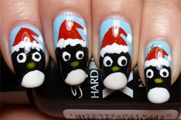 santa-clause-christmass-nail-nart-5