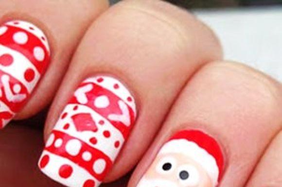 Santa Claus Nail Art Ideas For Christmas Christmas Nail Art Designs