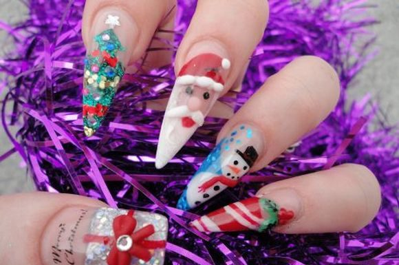 santa-clause-christmass-nail-nart-9
