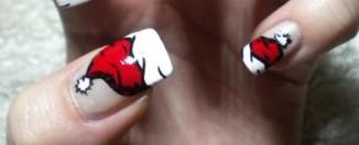 Santa Hats Christmas Nail Art