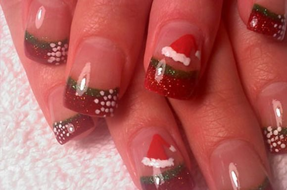 santa-hat-chriatmass-nail-art