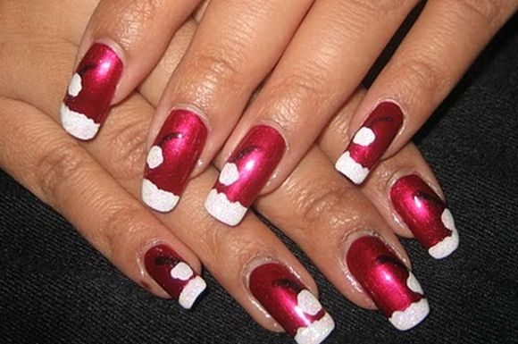 santa-hat-chriatmass-nail-art-8